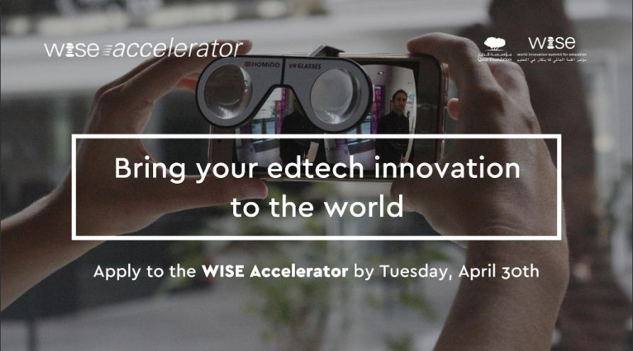 WISE Accelerator Programme for EdTech Founders Open